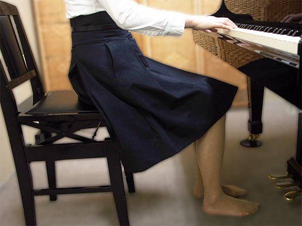 ピアノ姿勢 良いすわり方例